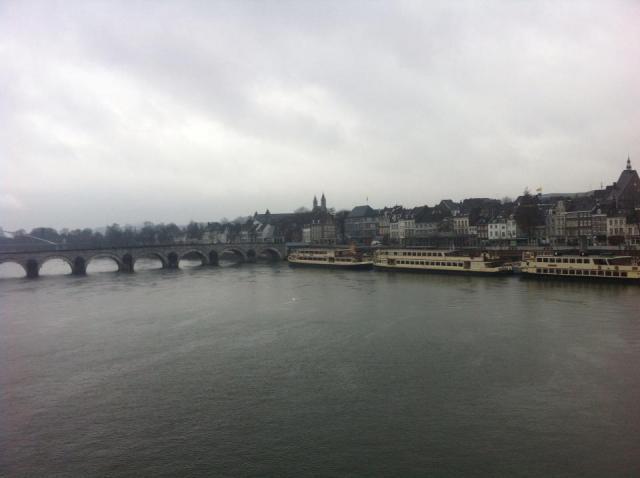 Maastricht, Netherlands. No sunshine breaking through juts yet.  Steve Kramer