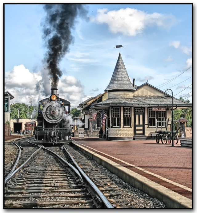 New Hope Train Station  Photo by Paul Ward Used by permission http://fineartamerica.com/featured/train-new-hope-train-station-paul-ward.html#comment6869671